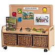 PlayScapes Low Display Storage Unit with Castors