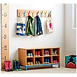 Cloakroom Coat Hangers With 8, 16 or 20 Pegs