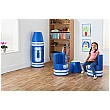 Crayon Magnetic Linking Soft Seating Blue