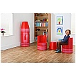 Crayon Magnetic Linking Soft Seating Red