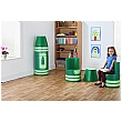 Crayon Magnetic Linking Soft Seating Green