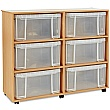 Really Useful Box Combination Storage Unit 6 x 48L