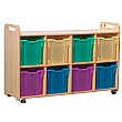 PlayScapes 4 Column Shelf Storage Unit With Trays