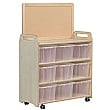 Mobile Storage Unit With Display Divider Clear Tub