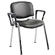 ISO Sierra Vinyl Conference Armchairs Chrome Frame