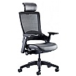 Lucas Mesh Back Leather Seat Task Chair With Headrest