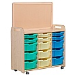PlayScapes 3 Column Variety Tray Storage Unit With Display Add-On