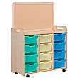 PlayScapes Triple Column Variety Tray Storage Unit With Display Add-On