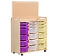PlayScapes Variety Tray Storage Unit With Display Add-On