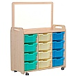 PlayScapes Triple Column Variety Tray Storage Unit With Magnetic Add-On