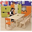 Rectangular Classroom Writing Table