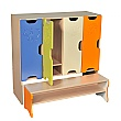 4 Door Animal Cloakroom Storage