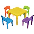 Children's Table and 4 Chairs Set