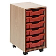 Essentials Mobile 6 Tray Storage Unit