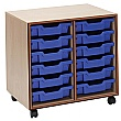 Essentials Mobile 12 Tray Storage Unit