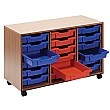 Essentials Mobile 18 Tray Storage Unit