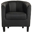 Cask Black Tub Chair