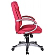 Fiji Fabric Manager Chair - Red