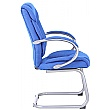 Fiji Fabric Visitor Chair - Blue