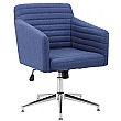 Harris Fabric Swivel Chair supplied with Castors a