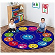 Emotions Circular Carpet