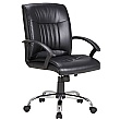 Pescara Leather Faced Manager Chair - Black