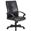 Adept High Back Leather Faced Office Chair