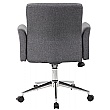 Skye Fabric Swivel Chair supplied with Castors and Glides