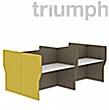 Triumph Rectangular Phonic Acoustic Back To Back 4 Person Pods