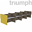 Triumph Double Wave Phonic Acoustic Back To Back 8 Person Pods