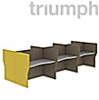 Triumph Double Wave Phonic Acoustic Back To Back 6 Person Pods