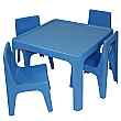 Jolly Kidz Table & Chair Set - Blue