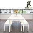 Gresham Deck 4 Leg Table & Bench Set