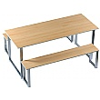 Cantina Dining Table and Bench Set