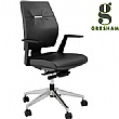Gresham Take Off Executive Leather Medium Back Chairs