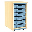Splash Single Column 6 Tray Storage Unit