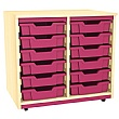 Splash Double Column 12 Tray Storage Unit