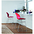 Gresham Lahr Chrome Sled Base Stools