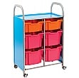 Gratnells Callero Variety Tray Storage Unit With Deep and Extra Deep Trays
