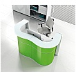 Ripple Compact Reception Desk - Lime