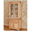 Addison Solid Oak Glazed Display Top With Sideboard