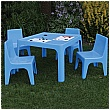 Jolly Kidz Table & Chair Set Outside - Blue
