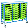 Gratnells Handy Shallow Tray 3 Column Storage Trolley