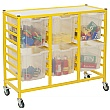 Gratnells Handy Jumbo Tray 3 Column Storage Trolley
