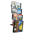 8 x Third A4 Pocket Wall Mounted Leaflet Dispenser