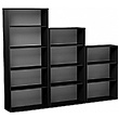 Eclipse Essential Black Office Bookcases