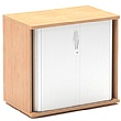 Solar Essential Desk High Tambour Cupboards