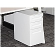 Prism Narrow Steel Mobile Pedestal - White