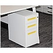 Prism Narrow Steel Mobile Pedestal - Yellow