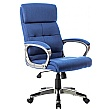 Dereham Executive Fabric Office Chairs Blue